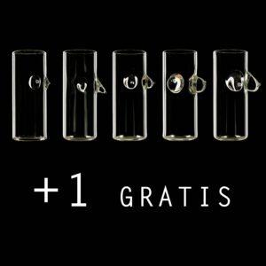 6 Mexikaner schnapsgläser edition handmade glass design